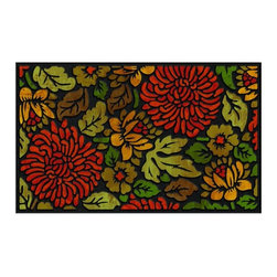 BuyMATS Inc. - November Bloom Entry Mat - •Exciting full color design Indoor/Oudoor Entry MAT with built in channels provide high fashion appeal.
