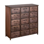 Cormac 15 Drawer Cabinet - Product Features: