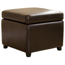 Transitional Ottomans And Cubes by Baxton Studio