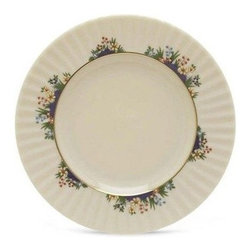 Lenox Rutledge Salad/Dessert Plate - Tender baby spinach or a slice of angel food cake will look scrumptious served on the Lenox Rutledge Salad/Dessert Plate. This elegant, versatile plate is perfect for salads, desserts, cheese and crackers, fresh fruit, and other tasty tidbits. It's crafted in the USA of ivory fine china accented with 24 karat gold and hand-applied enameling. Colorful flowers adorn the fluted rim for a warm, classic style. Perfect for everyday dining or formal meals, this plate is dishwasher-safe for easy cleanup.About LenoxThe Lenox Corporation is an industry leader in premium tabletops, giftware, and collectibles. The company markets its products under the Lenox, Dansk, and Gorham brands, propelled by a shared commitment to quality and design that makes the brands among the best known and respected in the industry. Collectively, the three brands share 340 years of tabletop and giftware expertise.