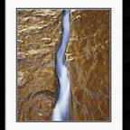Amanti Art - Water Ribbon Framed Print by Will Connor - Photographer Will Connor takes fluid and stone and creates this captivating piece of visual poetry.