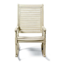 Nantucket Rocking Chair, Weathered White - I adore these rocking chairs from Grandin Road. They have a few different colors, but I love this weathered white. The red is good too if you want a pop.