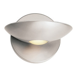 Access Lighting - Access Lighting 62084-BS/FST Metal Sconce with Opal Glass Downlight - Access Lighting 62084-BS/FST Helius Metal Sconce with Opal Glass Downlight