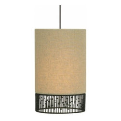 """LBL Lighting - LBL Lighting Mini-Hollywood Pendant - The Mini-Hollywood Pendant has been designed and made by LBL lighting. This pendant light is designed with a modern round fabric shade in a tan color with intricate hand-crafted wire detail around the base of the pendant. This fixture is attached to bronze canopy The fixture comes with 6' of field-cuttable aircraft cable so you can customize to your desired length. Lighting for this pendant Includes 1 x 50W low-voltage GY6.35 base Xenon bi-pin lamp or 6W replaceable LED module. cETL LISTED         Product Details: The Mini-Hollywood Pendant has been designed and made by LBL lighting. This pendant light is designed with a modern round fabric shade in a tan color with intricate hand-crafted wire detail around the base of the pendant. This fixture is attached to bronze canopy The fixture comes with 6' of field-cuttable aircraft cable so you can customize to your desired length.  Lighting for this pendant Includes 1 x 50W low-voltage GY6.35 base Xenon bi-pin lamp or 6W replaceable LED module. cETL LISTED Details:                         Manufacturer:            LBL Lighting                            Designer:            LBL Lighting                            Made in:            USA                            Dimensions:            Height: 9"""" (22.8 cm) X Diameter: 5.5"""" (14.0 cm)                            Light bulb:            Includes 1 x 50W low-voltage GY6.35 base Xenon bi-pin lamp or 6W replaceable LED module                            Material:            Metal, glass"""