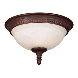 Savoy House - Savoy House KP-6-506-11-40 Liberty Flush Mount - Climb into your horse drawn carriage and go back in time with the Liberty collection. A dignified Colonial design with a rustic Walnut Patina finish almost makes this collection an amercian treasure.