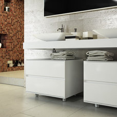 Modern Bathroom Vanities And Sink Consoles by European Cabinets & Design Studios