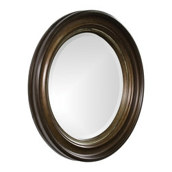 Howard Elliott - Caf Wooden Round Mirror - Our Caf Mirror is a simple, elegant piece with a grooved, round wooden frame finished in a rich espresso brown.
