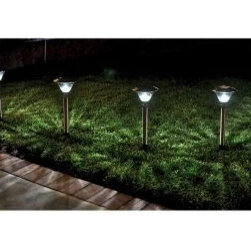 Homebrite Solar Power Sierra Path Lights - Set of 8- Stainless Steel - About Homebrite: Founded in 1985, Homebrite restructured their manufacturing process in 2002 in order to focus on developing and improving solar lighting technology. Their innovations in this field led them to quickly become one of the leading specialists in LED lighting. Their dedication to only bringing proven-effective products to the market is reflected in their 10,000 hours of testing to ensure product quality and reliability. Homebrite's constant innovation led to the development of their Super Bright Technology, delivering intense brightness with the energy-saving, cost-effective use of solar technology. From solar path lights to solar stepping stones and rock spotlights, Homebrite's products will provide safety and energy-efficiency to your favorite outdoor spaces.