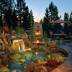 eclectic pool by Alderwood Landscaping