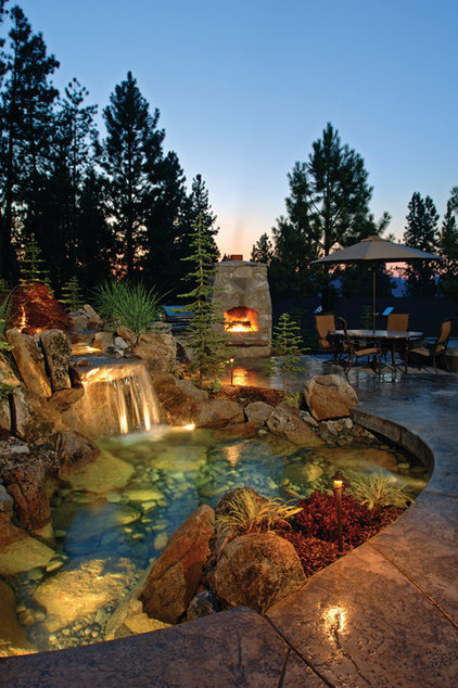 Eclectic Pool by Alderwood Landscape Architecture and Construction