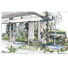 Eclectic Site And Landscape Plan by Liquidscapes