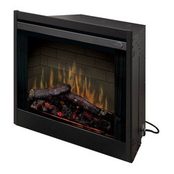 Dimplex - Dimplex 33 in. Built-In Electric Fireplace Insert Multicolor - BF33DXP - Shop for Fire Places Wood Stoves and Hardware from Hayneedle.com! The Dimplex 33 in. Built-In Electric Fireplace Insert features patented electric flame technology and pulsating embers with LED glow logs that make for a spectacular display and glass that remains cool to the touch. This sleek black unit's smooth edges allow for flush mounting in drywall or tile or into a finished wall cavity. And with the Purifire air treatment system that removes allergens so you can clean the air as you warm your home! Measures 32.75W x 14.38D x 28.88H inches and operates with built-in manual controls.About DimplexDimplex North America Limited is the world leader in electric heating offering a wide range of residential commercial and industrial products. The company's commitment to innovation has fostered outstanding product development and design excellence. Recent innovations include the patented electric flame technology - the company made history in the fireplace industry when it developed and produced the first electric fireplace with a truly realistic wood burning flame effect in 1995. The company has since been granted 87 patents covering various areas of electric flame technology and 37 more are pending. Dimplex is a green choice because its products do not produce carbon monoxide or emissions.