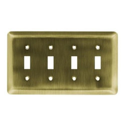 Liberty Hardware - Liberty Hardware 126433 Stamped Round WP Collection 8.59 Inch Switch Plate - Ant - A simple change can make a huge impact on the look and feel of any room. Change out your old wall plates and give any room a brand new feel. Experience the look of a quality Liberty Hardware wall plate.. Width - 8.59 Inch,Height - 4.9 Inch,Projection - 0.2 Inch,Finish - Antique Brass,Weight - 0.38 Lbs