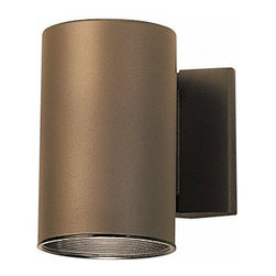 KICHLER - KICHLER 9234AZ Cans & Bullets Hard Contemporary Outdoor Wall Sconce - Clean lines and a no frills, no fuss design give a modern, updated look to this Kichler Ligthing outdoor wall sconce. From the Cans & Bullets Collection, it features a warm Architectural Bronze finish that will compliment a variety of architectural styles. U.L. listed for wet locations. Dark skies compliant.