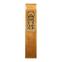 EuroLux Home - Consigned Antique Chinese Door Carved Flowers Lotus - Product Details