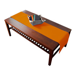 The Felt Store - Orange Table Runner - The designer felt table runners are crafted from 100% virgin wool and are available in a wide range of bright colors. These table runners are perfect for your kitchen table, coffee tables and/or office space. The runner can be cut to size. This table runner measures 70 inches long x 12 inches wide and is 3mm thick.