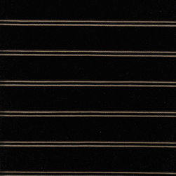 Pollack - Pollack Passageway Wool Velvet Stripe in Tuxedo - 5.125 Yards - Yardage: 5.125 Yards