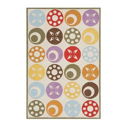 Momeni - Mod Look Floral Print Hand-Tufted Acrylic Rug - Lil Mo Whimsy LMJ-5 (4.0 ft. x 6 - Choose Size: 4.0 ft. x 6.0 ft. Rectangle. Hand-tufted. Mod-acrylic. Care InstructionForest critters, retro robots and mod flowers, oh my! Quirky motifs combine to put 'Lil Mo Whimsy in a class by itself. Hand-tufted of soft mod-acrylic, this collection features hand-carving for added texture and a vibrant color palette to make it as fun as it is unique.