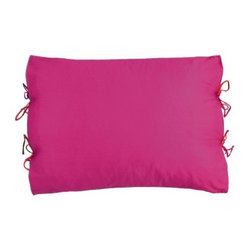 Koko Company Red/Fuchsia Sham - Create a natural look you'll love with the Koko Company Red/Fuchsia Sham. Constructed of a high quality cotton/flax blend, this simple sham will do wonders for your room. It sports a unique, stylish, side-tie closure that adds a bit of flair to its minimalistic silhouette. Throw this basic sham on your favorite pillow for an instant, refreshing update. Available in your choice of color, you'll love both its look and feel. And, any time it needs a pick-me-up, just remove the pillow and toss the sham in the wash. Yep, it's that simple.About The Koko CompanyFor over 10 years, The Koko Company has been pouring heart and soul into bringing you a vibrant, diverse collection of pieces to suit your unique style. From pillows and bedding, to rugs and throws, every piece is both versatile and distinctive, each playing its own part in a grander, global vision. Located in Long Island City, NY, but influenced and inspired by an array of cultures and fashions, The Koko Company strives to bring the subtle elegance of natural fibers and organic design to your home accents.