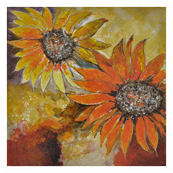 Yosemite - Yosemite FCC4959-1 Sunburst Flower I Wall Art - Yosemite FCC4959-1 Sunburst Flower I Wall ArtThese large sunflowers are created using orange, yellow, red and brown tones to create a splash of color that will brighten any room.Yosemite FCC4959-1 Features: