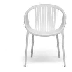 Baxton Studio Grafton White Plastic Stackable Modern Dining Chair (set of 2)