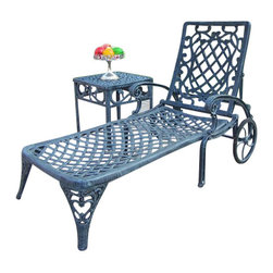 Oakland Living - Oakland Living Mississippi 2-Piece Chaise Lounge Set in Verdi Gray - Oakland Living - Patio Lounges - 210821062VG - About This Product: