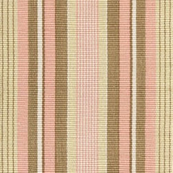 Dash & Albert - Dash & Albert Pheobe Indoor/Outdoor Rug by Bunny Williams - Designer Bunny Williams collaborates with Annie Selke to create an irresistible line of transitional area rugs for your everyday home. Dash & Albert Pheobe Indoor/Outdoor Rug by Bunny Williams rugs are hoseable, srcubable and made from recycled materials. Traditional stripes in pink, brown and yellow. These indoor/outdoor rugs are so soft and durable that you can use them in any room inside or outside on a patio or deck