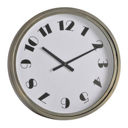 "Ren Wil - Ren Wil CL200 Iliad 24"" Decorative Wall Clock - Features:"