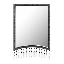 Cal Lighting - Cal Lighting WA-2128Mir Argenta Rectangular Metal Mirror - Argenta Rectangular Metal Mirror