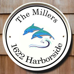 Dolphins Round House Plaques - To find out more and how to order click here: http://www.classyplaques.com/dolphins-round-house-plaques/