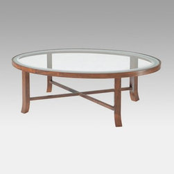 Mayline Illusion Oval Coffee Table - Your home is your escape from the pressures of everyday life a place where you can just relax and breathe. Your furniture should naturally follow suit then right? The Illusion Oval Coffee Table is positively airy thanks to clean traditional lines and a frosted glass tabletop that gives the illusion of total openness.The table's durable excellent-quality wood base is finished in a warm Honey Cherry and the oval frosted glass top fits neatly into it. The base ships fully assembled so all you have to do is slip the glass in and start using it immediately. Coordinates with other Illusion pieces. Limited lifetime warranty covers defective material and workmanship.About MaylineMayline Company was founded in 1939 under the name Engineering Supply Company. The company proved to be an expert in the manufacture of drafting tables blueprint files and straight edges. During the war years Mayline provided highly accurate navigatonal and mapping accessories for all branches of the military. Though still a market leader in manual drawing and large format filing Mayline has moved to the forefront of office ergonomics. Mayline offers the market's largest and most diverse selection of manual-assist counterbalance and electric sit-to-stand workstations found anywhere. Mayline is located in Sheboygan Wis.