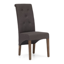Zuo Modern - Zuo Modern Hayes Valley Era Dining Chair (Pack of 2) X-17089 - Create a statement with the Hayes Valley chair. Its tufted back curves to contour your body and is wrapped in either a beige or charcoal linen fabric. The frame is solid wood.