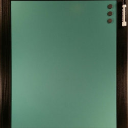"""Top of the World Innovations LLC/Retro Color Boards - Retro Color Boards-Custom Color Magnetic Dry Erase Board, Retro Blue, 20x24 - Retro Color Boards are custom color magnetic dry erase boards with patent pending ghostbuster technology for easy cleaning with water, window or dry erase cleaner and the elimination of unsightly ghost images when used with liquid chalk or dry erase markers. Boards are magnetic 24 gauge steel and come in 5 colors (Brilliant Red, Retro Blue, Matte Black, Metallic Silver and Metallic Copper) and 4 sizes (8""""x8"""", 14""""x14"""", 10""""x30"""" and 20""""x24""""). Each board is framed with a black finished 2-inch hardwood frame and comes with saw tooth hanger, three 3/4"""" round magnets and one chisel tip black dry erase marker (excluding the matte black board). The main benefits of the Retro Color Board over other dry erase boards are optionality, elegance and durability. Our colors have been selected with your designs in mind and our frame selected to provide an elegant functional décor piece for the home, office or business. Durable hardwood construction with three v-nails in each corner and matte board backing provide exceptionally study construction designed to last."""