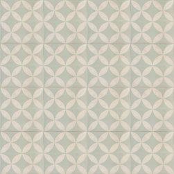 Mint Green Citrus Cement Tile - BY AMETHYST ARTISAN