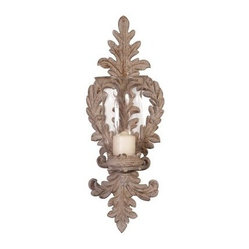 Old World Ornate Ceramic/Glass Wall Sconce