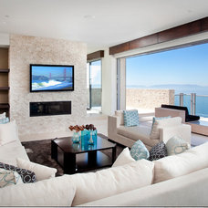 Contemporary Living Room by Launch Home Systems