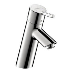 Hansgrohe - Hansgrohe - Talis Single Hole Lavatory - 32040001 - Chrome - Featuring a single-handle setup, the Hansgrohe Talis S Single Hole 1-Handle Mid-Arc Bathroom Faucet in Chrome delivers smooth performance and the mid-arc spout helps ensure optimal clearance to make cleaning a breeze. A ceramic disc cartridge helps provide drip-free usage for added convenience.