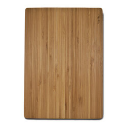 Bambu - Bambu Medium Undercut Bamboo Cutting Board - Get ready to slice some cheddar. This cutting board provides you with a snazzy surface on which to chop your cheese and veggies. With its lovely striated surface, this bamboo board not only looks smart, it also makes for an ecofriendly alternative to plastic or other types of wood for your cutting board.