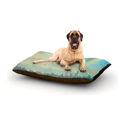 "Kess InHouse - Robin Dickinson ""Follow Your Own Arrow"" City Landscape Fleece Dog Bed (50"" x 60"" - Pets deserve to be as comfortable as their humans! These dog beds not only give your pet the utmost comfort with their fleece cozy top but they match your house and decor! Kess Inhouse gives your pet some style by adding vivaciously artistic work onto their favorite place to lay, their bed! What's the best part? These are totally machine washable, just unzip the cover and throw it in the washing machine!"