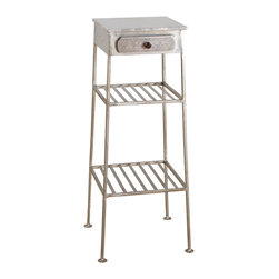 Shimie Iron One-Drawer Side Table - Product Features: