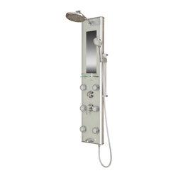 PULSE ShowerSpas - PULSE ShowerSpas 1013-GL Kihei II Silver Glass Shower Panel - PULSE ShowerSpas 1013-GL Kihei II Silver Glass Shower Panel