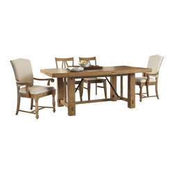 Riverside Furniture - Riverside Furniture Summerhill 6 Piece Dining Table Set in Canby Rustic Pine - Riverside Furniture - Dining Sets - 91650Summerhill6PcDiningSet2