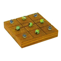 The Rusted Nail LLC - Tic Tac Toe Game - Some board games are boring — but this one makes a real style statement. Crafted of rustic, reclaimed barn wood with marbles filling in for Xs and Os, it's the perfect piece for parties or simply hanging out with your favorite person.