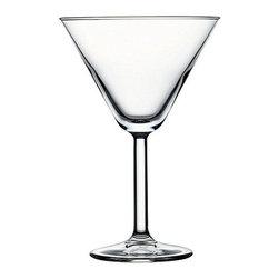 Hospitality Glass - 6.75H x 4.5T x 3B Primetime 10.25 oz Martini Glasses 24 Ct - Primetime 10.25 oz Martini