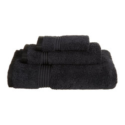 Superior Egyptian Cotton 3-Piece Black Towel Set - Superior 600GSM 3-Piece Black Towel Set