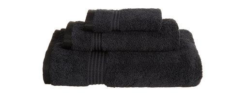 Superior Egyptian Cotton 3-Piece Black Towel Set - Superior 600GSM 3-Piece Black Towel Set
