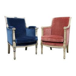 Vintage Louis XVI Bergeres Chair - A Set - $2,097 Est. Retail - $699 on Chairish -