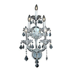Elegant Lighting - Elegant Lighting 2800W5C/RC Maria Theresa 5 Light Wall Sconces in Chrome - 2800 Maria Theresa Collection Wall Sconce W12in H29.5in E11.5in Lt:5 Chrome Finish (Royal Cut Crystal)