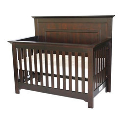 Home Decorators Collection - Chesapeake Full Panel Crib - The timeless style of our Chesapeake Full Panel Crib is embodied in its tall, molded headboard and slatted sides. This fixed-side baby crib is perfect for a cottage or transitional decorating concept. Remove the front panel and lower the mattress spring to convert the crib into a toddler day bed. Converts to a toddler bed. Mattress and bedding not included.