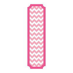 RoomMates - Pink and White Chevron Peel and Stick Deco Panel - Fashionable and fun, this patterned pink chevron decorative panel is great for any room in your home. The panel is removable and repositionable making it easy to install. To apply, slowly peel the decal from the backing and stick to any smooth flat surface.�